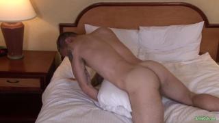 chiseled inked stud fucks his pillow