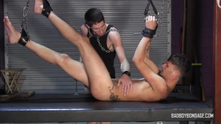 damien rage tames this wild bottom