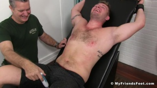 Jake Tickled By Two men