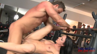 Peter Stallion fucks a chick after a workout with his trainer