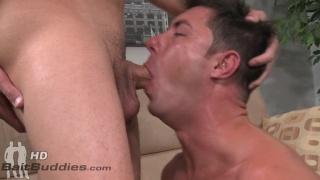 joey deep throats sasha huge cock