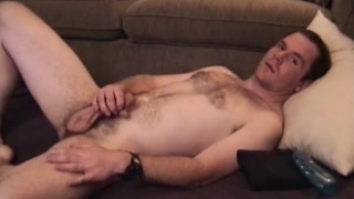 straight guy paul jerks his 8-inch cock