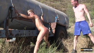 Pissed On Twink Gets his ass Fucked Deep