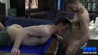 bottoms gets barebacked on billiards table