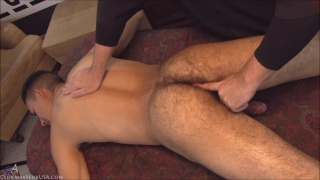 straight guy gets his beefy butt cheeks spread