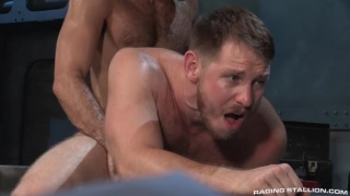 navy men Tegan Zayne and Spencer Whitman flip fucking