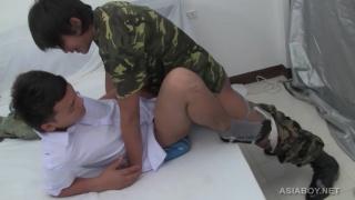 asian soldier boy fucks young guy's ass