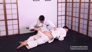 judo twink gets fucked in the dojo after a match