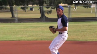 baseball player hits the showers and jerks off