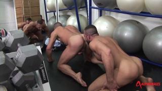 masculine men fucking among yoga balls