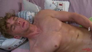 noah dildo fucks himself in first anal sex