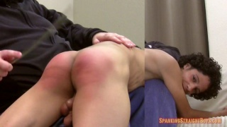 hung straight boy gets his ass spanked bright red