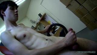 Dustin Beeber Jerking His Cock At Work
