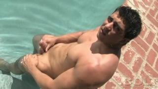 Karl Kasper shows his muscular body