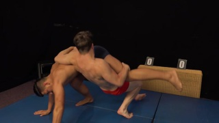 two guys in submission wrestling match