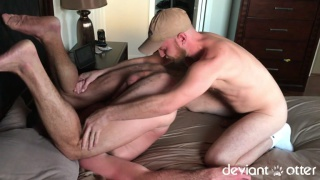 deviant otter fucks hot daddy clay powers