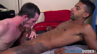toby springs takes jay alexander's big black cock