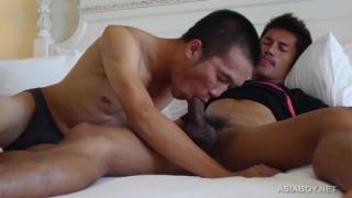 Asian boy Guy picks up a boy at the bar