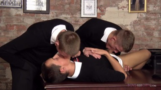 Student Boys Horny Office Antics