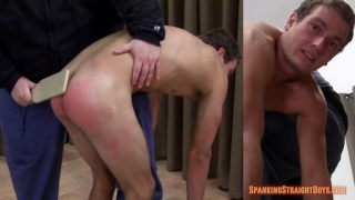 college boy goes over tom's knee for his first spanking