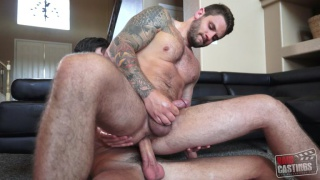 inked hunk MIKE RATHBURNE gets fucked