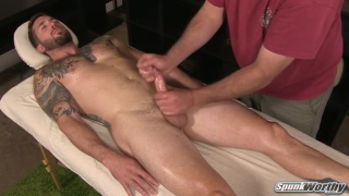 first man to touch drew's hard cock