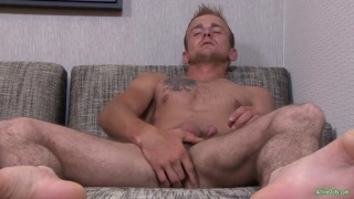 Kevin reed tugs his beautiful boner
