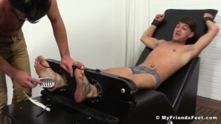twink twins in the tickling chair