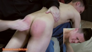 19-year-old frat boy gets over-the-knee spanking