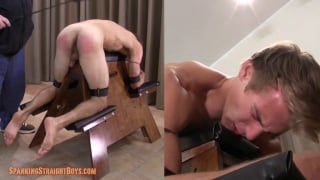 cute blond guy adam gets his first spanking