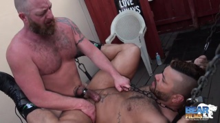 bearded daddy Dalton Hawg and beefy cub Alejandro Avila