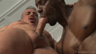 Titan tex knows that Marc ferrer loves servicing his monster cock