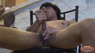 2-year-old strokes his 7-inch cock
