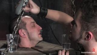 Shaved slave gets abuse