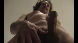 long-haired redneck pete jerks his cock