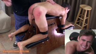 bryce gets a punishing spanking for a big daddy