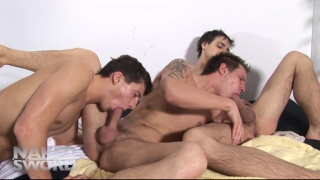 horny boys soaking up the sun and cum