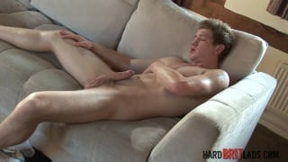 straight lad Daniel Johnson plays with his cock