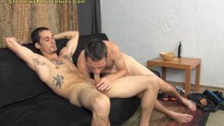 Furry cub Lance lets Spence invade his virgin ass
