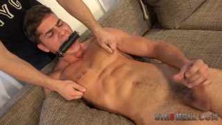 czech stud gets spanked before the shackles go on