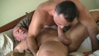 daddy sucks older man's cock