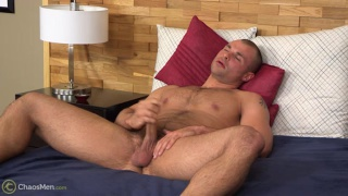 gay guy barton jacks his dick