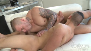 ryan cage slides his thick cock in petr skala's ass