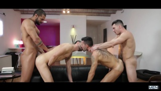 Hat Trick orgy with Paddy O'Brian, Andy Star, Lucas Fox & Ely Chaim