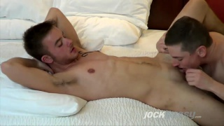 Logan Philips gets fucked by Luke hudson and his strap-on