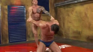 two muscle wrestlers fuck