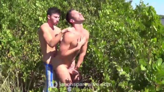 Owen Powers & Scott DeMarco bareback outdoors