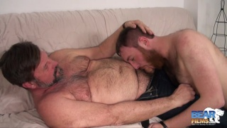 Cock hungry cub and salt-n-pepper bearded daddy