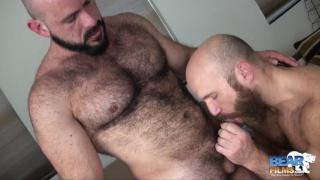 hairy barebackers Nixon Steele and Marco Bolt