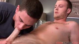 Benjamin Dover fills up Tyler Griffin with his cock